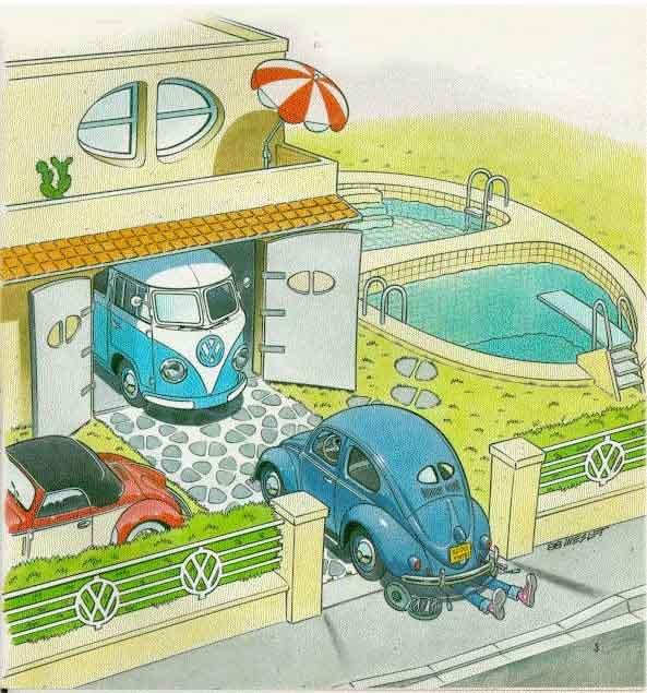Volkswagen Dune Buggy >> Comics von VW Käfer, Karmann, Typ 3, Bus und Cabrio ...