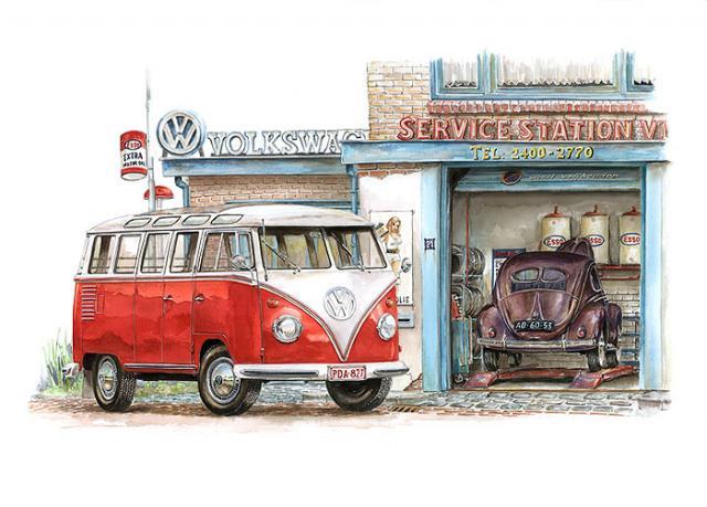 cartoons comics vw k fer t1 bus t4 bus buggy k ferblog. Black Bedroom Furniture Sets. Home Design Ideas