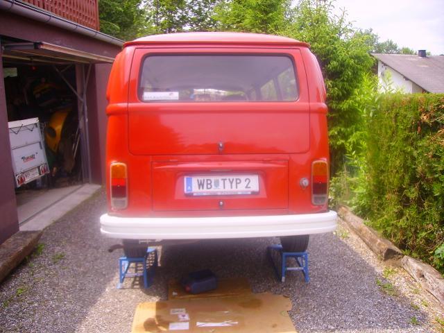 Öl wechseln bei VW Bus T2