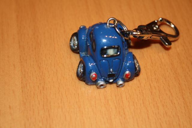 VW Käfer Comic Style Schlüsselanhänger Rückansicht