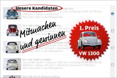 Super VW wählen und gewinnen