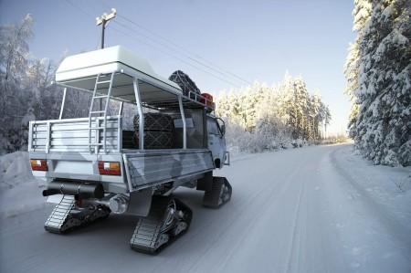 VW Bus T3 als modernes Schneemobil