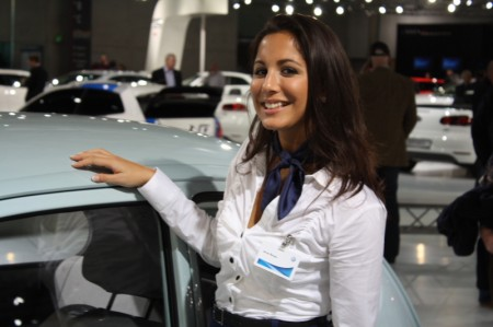 VW Käfer Dame Girl Babe Hostess