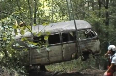VW Bus T1 Leichen Bergung Wald