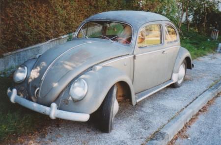VW Käfer Ovali grau