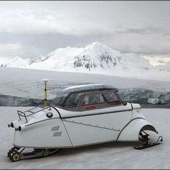 BMW Isetta Snowmobil Schnee