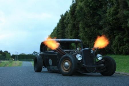 heiße Hot Rod Flamme