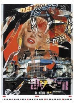 Mercedes-Benz Klassik Kalender 2013 Juli Marilyn Monroe S-Klasse