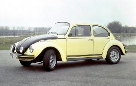 VW Käfer 1303 S GSR Gelb schwarzer Renner Goldene Klassik Lenkrad 2012