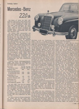Mercedes-Benz 220a Test AutoTouring 1955