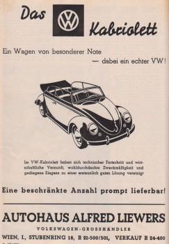 VW Käfer Cabrio Autohaus VW Liewers