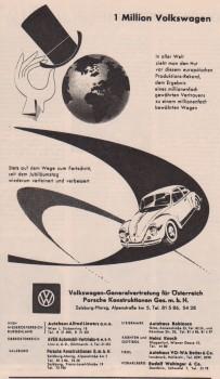 Volkswagen Generalvertretung Österreich Porsche Konstruktion Werbung