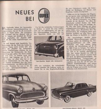 Neues bei Opel 1955