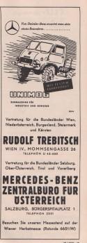 alte Werbung Unimog Daimler Merceds Benz
