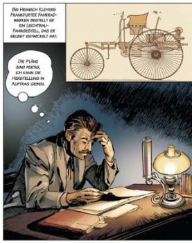"""Automobilhistorie als Comic: """"Carl Benz - Ein Leben für das Automobil"""" Bilder"""