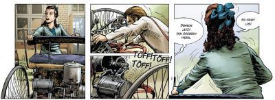 """Automobilhistorie als Comic: """"Carl Benz - Ein Leben für das Automobil"""" Buch"""