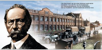 """Automobilhistorie als Comic: """"Carl Benz - Ein Leben für das Automobil"""" Magazin"""