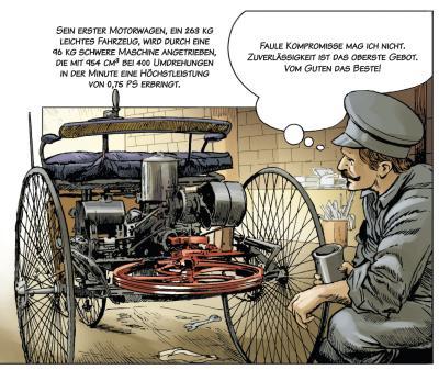 """Automobilhistorie als Comic: """"Carl Benz - Ein Leben für das Automobil"""" Auszüge"""