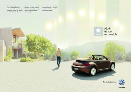 Neue Beetle Cabriolet Kampagne/Anzeigenmotiv Volkswagen