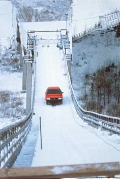 Audi quattro und Harald Demuth auf der Ski-Schanze Interview und Video