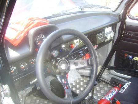 VW Porsche Austria Salzburgkäfer Rallye Käfer Innenraum Lenkrad Sitze