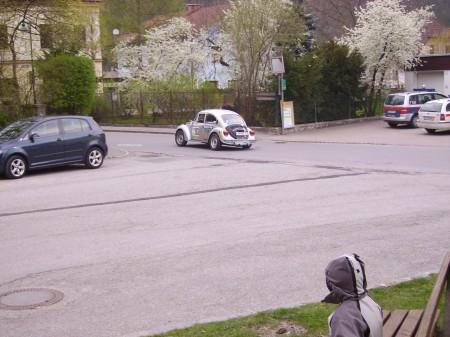 VW Porsche Austria Salzburgkäfer Rallye Käfer Kurvenlage
