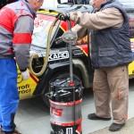 Rebenland Rallye Fahrerlager tanken