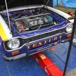 Rebenland Rallye Fahrerlager Ford Escort Motor