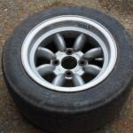 Rebenland Rallye Fahrerlager Ford Escort historische Reifen