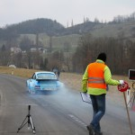 Rebenland Rallye Porsche 911 Start SP 9 Glanz rauchende Reifen