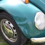 VW Käfertreffen Orth Unfall Crash Blechschaden Beule Kotflügel verbogen