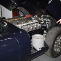 Oldtimer Messe Tulln Jaguar E-Type Motor Motorraum