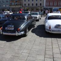Oldtimerfahrt Kobersdorf Schloss Spiele Böck 2013 Jaguar