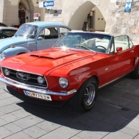 Oldtimerfahrt Kobersdorf Schloss Spiele Wolfgang Böck 2013 Ford Mustang Cabrio