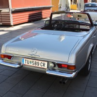 Oldtimerfahrt Schloss Spiele Kobersdorf 2013 Mercedes-Benz 280 SL Automatik Cabriolet