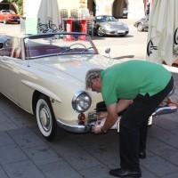 Oldtimerfahrt Schloss Spiele Kobersdorf 2013 Mercedes-Benz Cabriolet