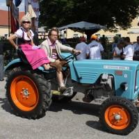 Oldtimertreffen Pinkafeld 2013 Traktor Beifahrerin