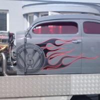 VW Käfer rote Scheiben