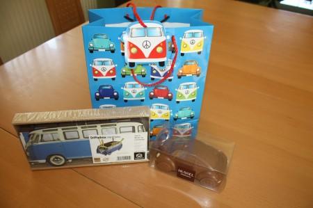 VW Geschenke Bus Tasche Stiftebox Schoko Beetle
