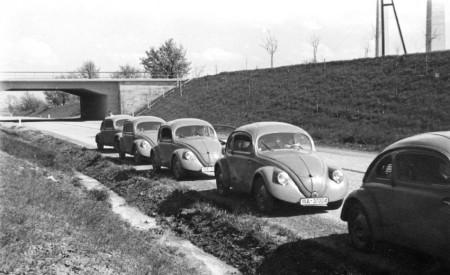 Testfahrt Versuchswagen Prototyp VW Käfer