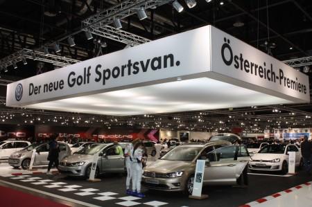 Vienna Autoshow 2014 VW Golf Sportsvan