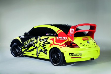 GRC Beetle des Volkswagen Andretti Rallycross Teams USA VW Heck