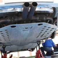 Rebenland Rallye 2014 Porsche 911 Kris Rosenberger Unterboden Auspuff Anlage Service