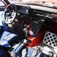 Rebenland Rallye 2014 Ford Escort RS 2000 Rino Muradore Service Innenraum Cockpit
