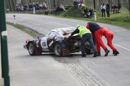 Rebenland Rallye 2014 Lancia Stratos Burghard Brink Ausfall SP 11
