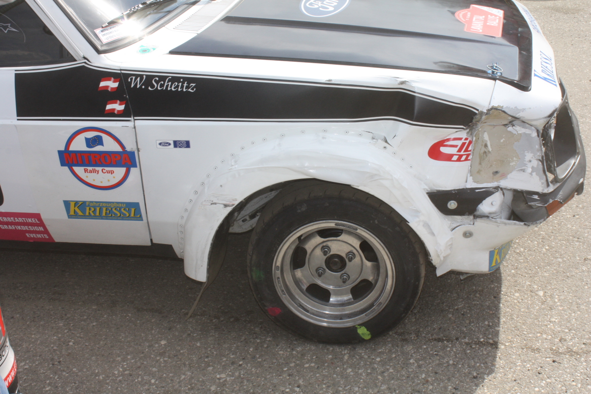 Lavanttal Rallye 2014 Ford Escort RS 2000 Mk 2 Gerhard Openauer Wolfgang Scheitz Unfall Crash Reparatur Service