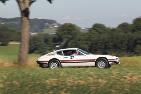 Volkswagen Classic mit drei luftgekuehlten Klassikern bei der Donau Classic