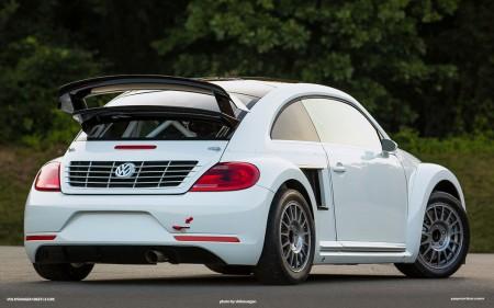 Test für den Rallycross GRC VW Beetle