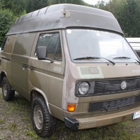 VW Bus Camp Out 2014 T3 Hochdach Bundesheer