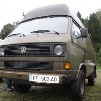 VW Bus Camp Out 2014 T3 Militär Hochdach Allrad Syncro